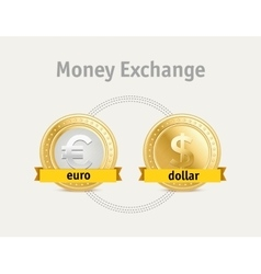 Currency exchange business symbols concept vector