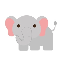 Cute elephant isolated icon vector