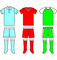Different football Soccer uniforms vector