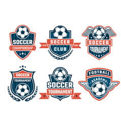 Different logos for football club labels vector