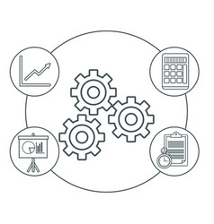Digital marketing and business icons vector