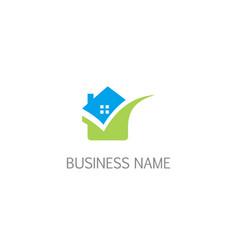 eco house realty logo vector image