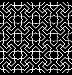 endless pattern with geometric motif decor vector image