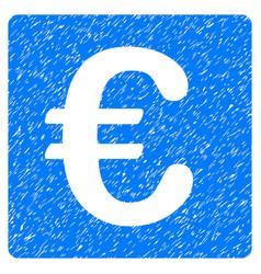Euro financial grunge icon vector