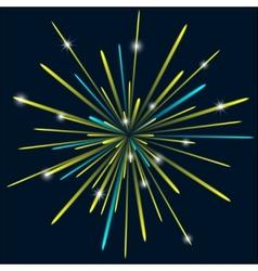 Firework background bark blue color vector