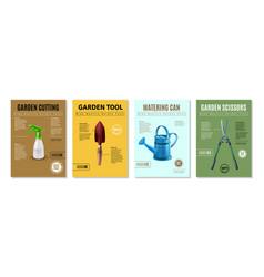 garden market banners vector image