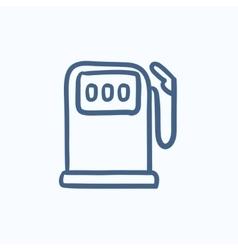 Gas station sketch icon vector image