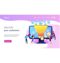 Generating new leads concept landing page vector