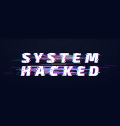 glitch font system hacked alphabet or digital vector image