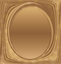 gold metal picture frame ellipse vertically vector image