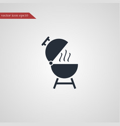grill icon simple vector image