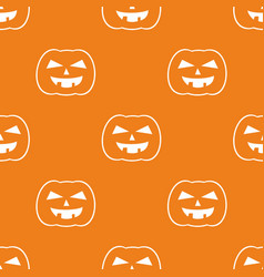 halloween tile pattern with white pumpkin vector image