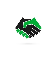 Handshake abstract logo design template vector image