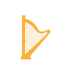 harp graphic design template isolated vector image