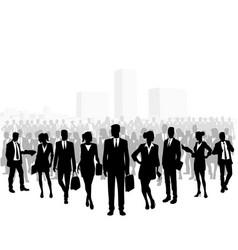 Huge crowd of business people vector