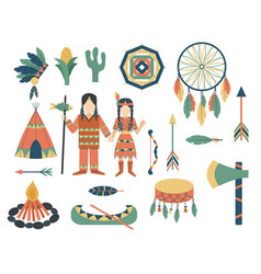 indians icon temple ornament and element retro vector image