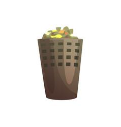 indoor trash bin waste processing and utilization vector image
