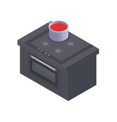 Isometric cooker vector