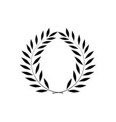 laurel wreath reward on white background vector image