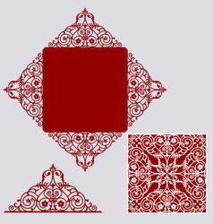 layout wedding invitation vector image