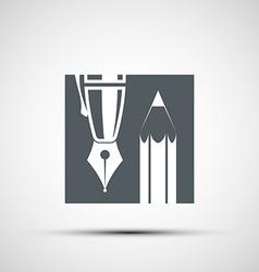 Logo pencil and pen vector image