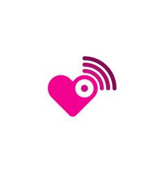 love wifi logo icon design vector image