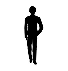 Man standing silhouette people posing image vector