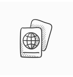 Map sketch icon vector image vector image