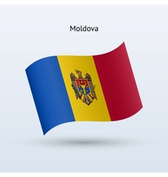 Moldova flag waving form vector image