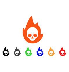 Mortal flame icon vector