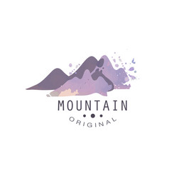 mountain original logo tourism hiking and vector image