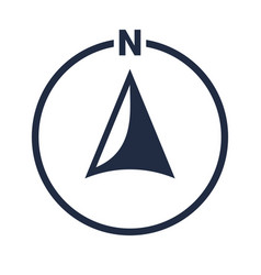 North arrow icon n direction point symbol vector