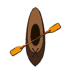 Oar and row boat icon image vector