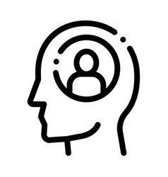 Person avatar in man silhouette mind icon vector