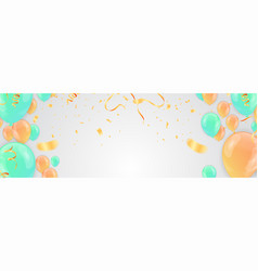 poster background with colorful balloons and vector image