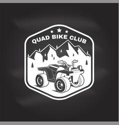 Quad bike club summer camp concept vector