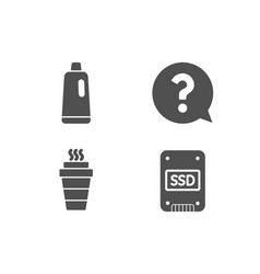 Question mark takeaway and shampoo icons ssd vector