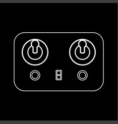 remote control white color icon vector image