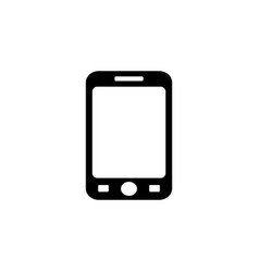 smart phone isolation black on white vector image