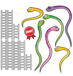 Snake and ladder set vector