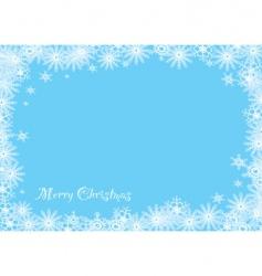 snowflake Christmas blue vector image
