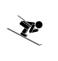 speed skiing flat icon vector image