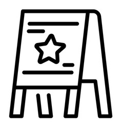 Stand board icon outline style vector