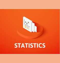 statistics isometric icon isolated on color vector image