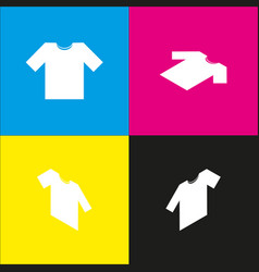 T-shirt sign white icon with vector