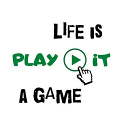 T shirt typography graphic quote Life is game vector image