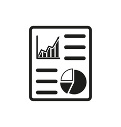 The business report icon Audit and analysis vector