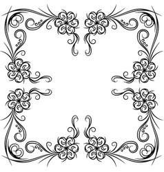 Traditional oriental ethnic motif of india mogul vector