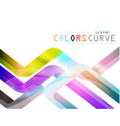 Translucent colorful curve style vector