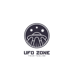Ufo zone logo vector